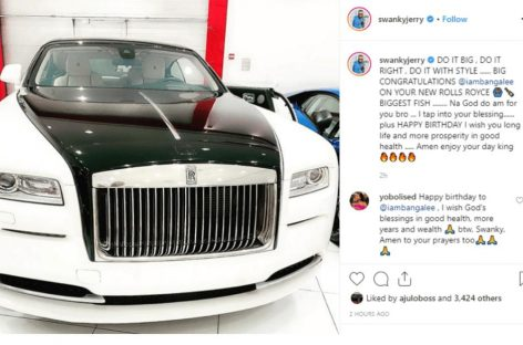 Dbanj Gifts Himself A Brand New Rolls Royce For His Birthday