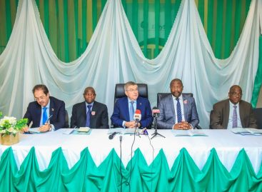 IOC President Commends Minister of Youth and Sports Development on State of Stadium, ANOCA Secretariat Commissioning